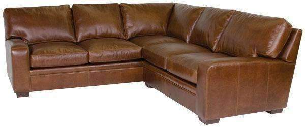 Benjamin Designer Style Contemporary Leather Sectional - As.