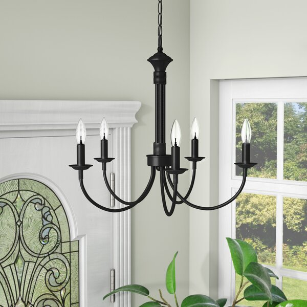 Laurel Foundry Modern Farmhouse Shaylee 5 - Light Candle Style.