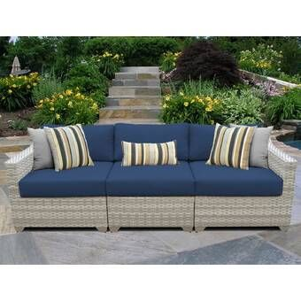 Mercury Row Larsen Patio Sectional with Cushions & Reviews.
