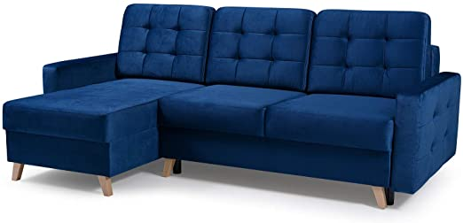 Amazon.com: Vegas Futon sektionsbäddsoffa, Queen Sleeper med.