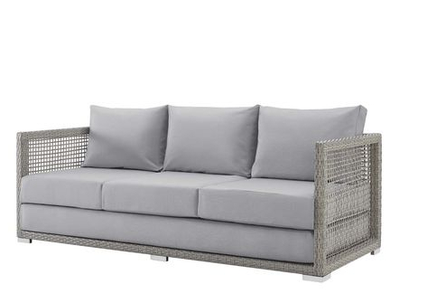Galleri med Keever Patio Sofas With Sunbrella Kuddar (View 11 of.