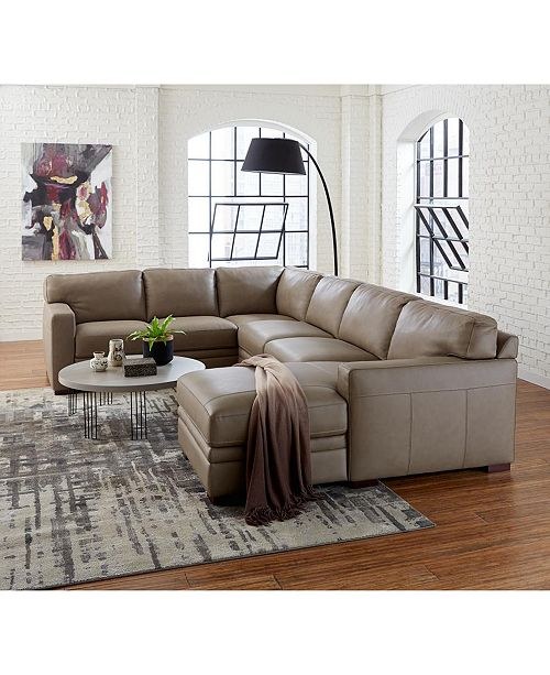 Möbler Avenell Leather Sectional and Sofa Collection, Created.