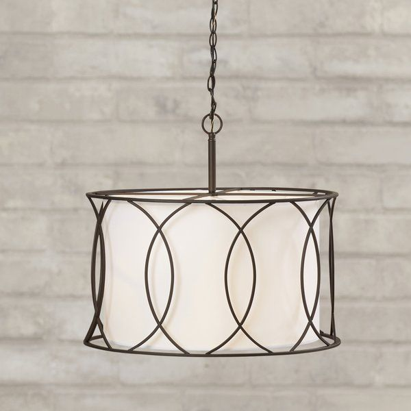 Tadwick 3-Light Shaded Drum Chandelier (With images) |  Kök .