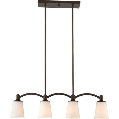 Smithville 4 - Light Kitchen Island Linear Pendant    Traditionell.