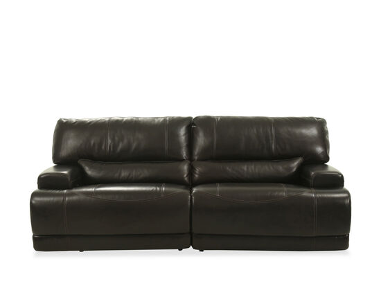 """Power Reclining Leather 91 """"Sofa in Blackberry   Mathis Brothers."""
