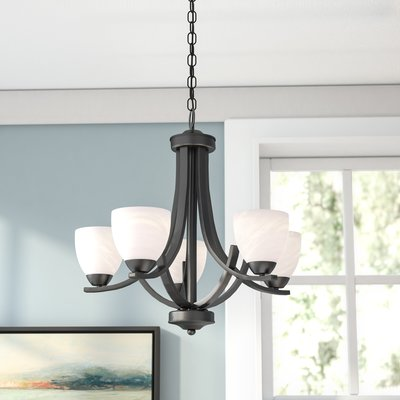 Red Barrel Studio Crofoot 5-Light Shaded Chandelier Finish: Brons.