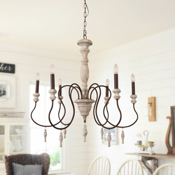 Ophelia & Co. Donnelly 6 - Classic Light Light Candle Style.