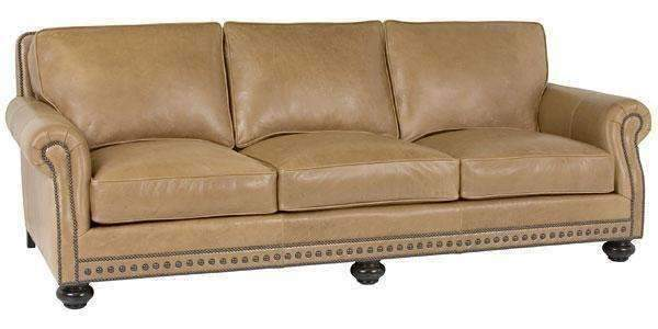 Archie Two-Seat Leather Loveseat - Designer Style Traditional So