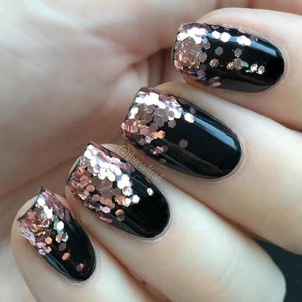 31 Snazzy New Year's Eve Nail Designs |  Snygg nagelkonst, Nytt.