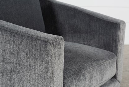 Chadwick Charcoal Swivel Accent Chair |  Living Spac
