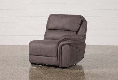 Norfolk Grey Raf Power Recliner |  Living Spac