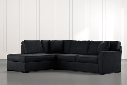 Aspen Black 2 Piece Sleeper Sectional with Left Arm Facing Chaise.