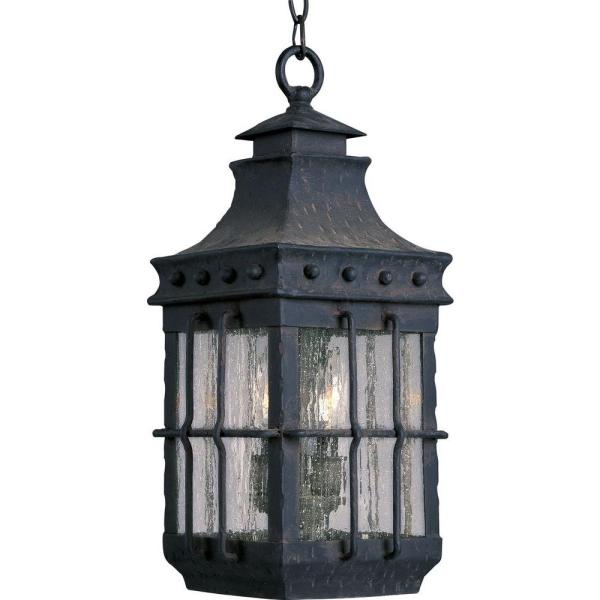 Maxim Lighting Nantucket 3-Light Country Forge Outdoor Hanging.