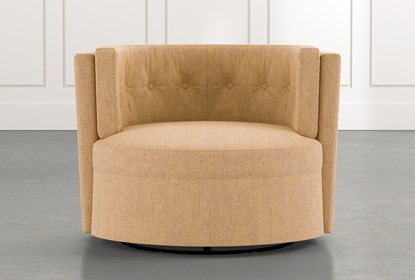 Aidan II Yellow Swivel Accent Chair |  Living Spac