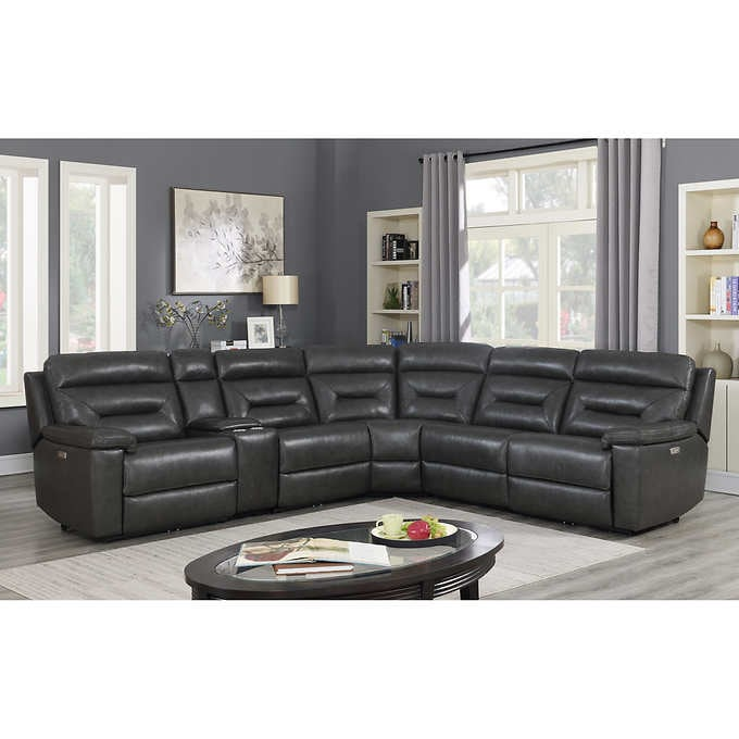 Corry 6-delad Power Power Reclining Sectional Sofa, Gr