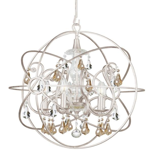 Crystorama 5-Light Olde Silver Ljuskrona 9026-OS-GS-MWP - The.