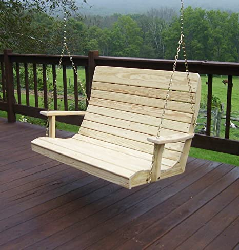Amazon.com: Amish Porch Swing, 4 ft Outdoor Hanging Porch Swings.
