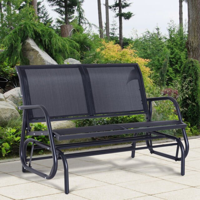 Utomhus Antik Järn Veranda Swing Bench Patio Garden Deck Hanging 2.