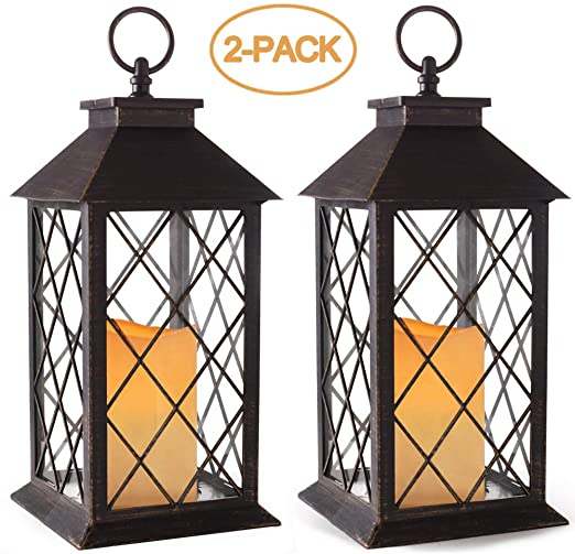 "Amazon.com: Bright Zeal 2-Pack 14 ""Vintage Ljuslykta med LED."