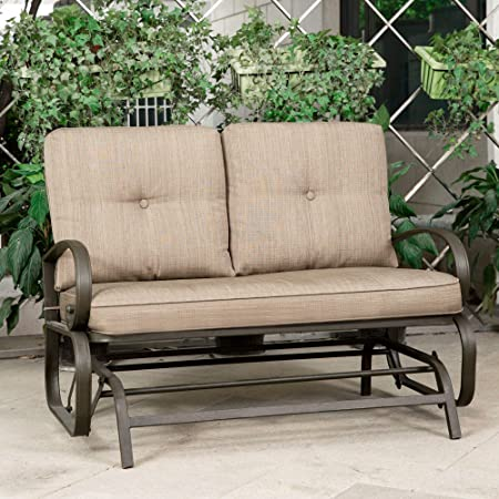 Amazon.com: Cloud Mountain Patio Glider Bench Outdoor Cushioned 2.