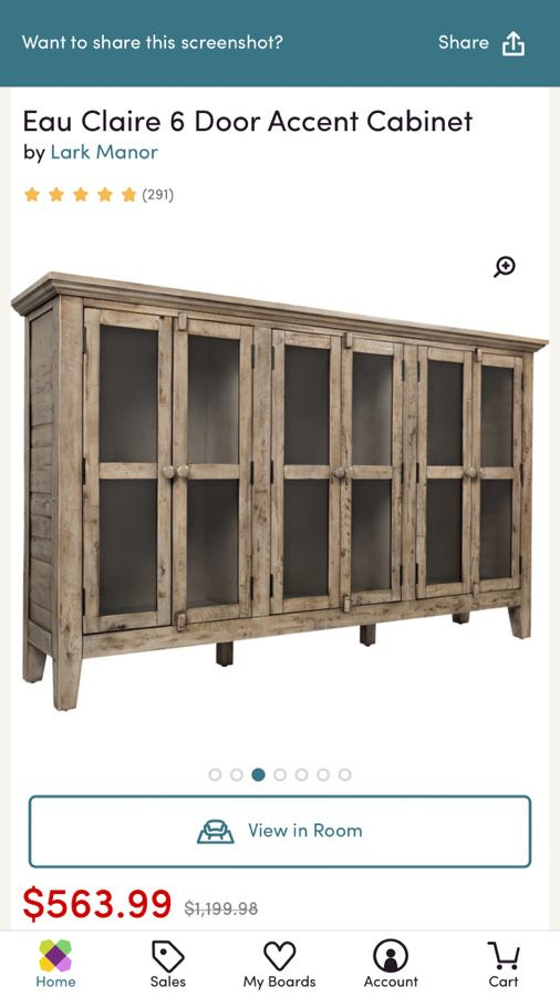 New Eau Claire 6 Door Accent Cabinet till salu i Lake Forest, CA.
