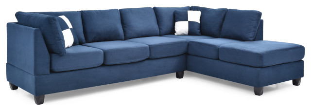 Solana Micro Suede Sectional - Transitional - Sectional Soffor - av.