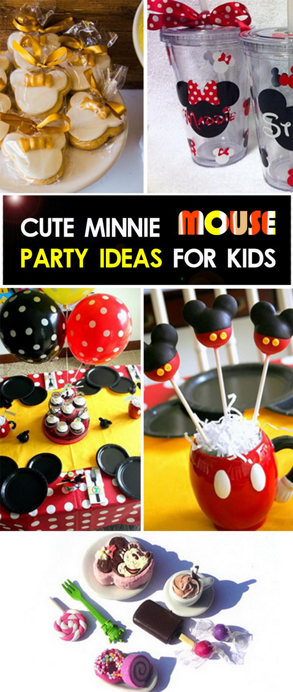 Söta Minnie Mouse Party-idéer för barn!
