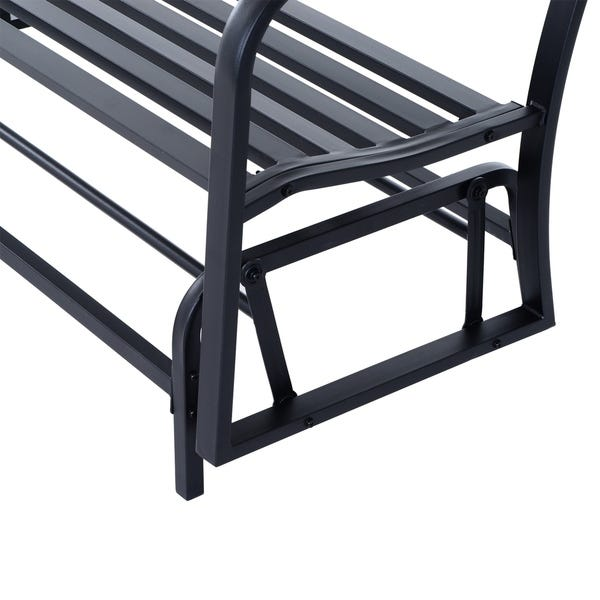 """Shop Outsunny 50 """"Outdoor Patio Swing Glider Bench Chair with High."""