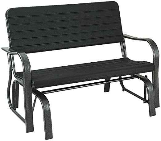 Amazon.com: Giantex Swing Glider Chair Patio Steel Porch Chair.
