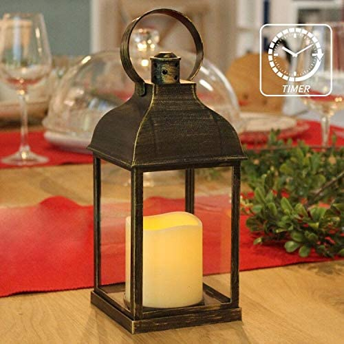 Amazon.com: Dekorativa lyktor med Timer Flameless Candle.