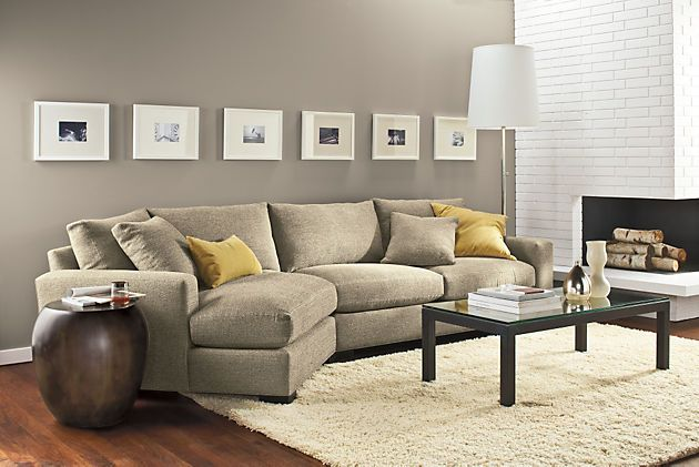 Room & Board - Metro Sofa with Angled Chaise - Modern Chaise Sofas.