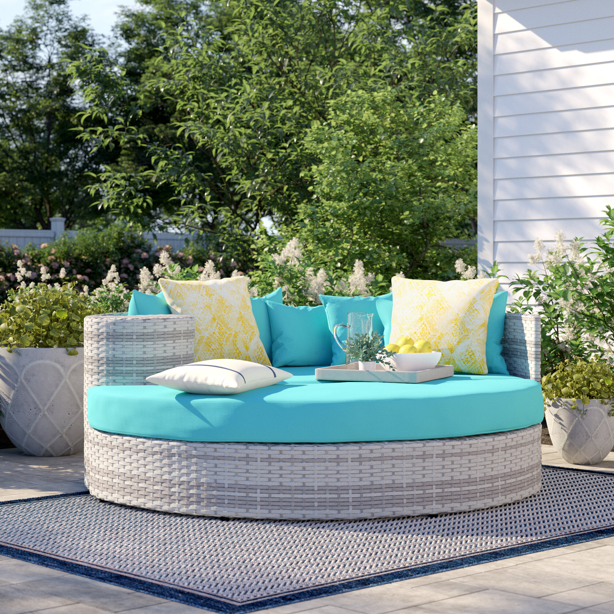 Falmouth Patio Daybeds With Kuddar