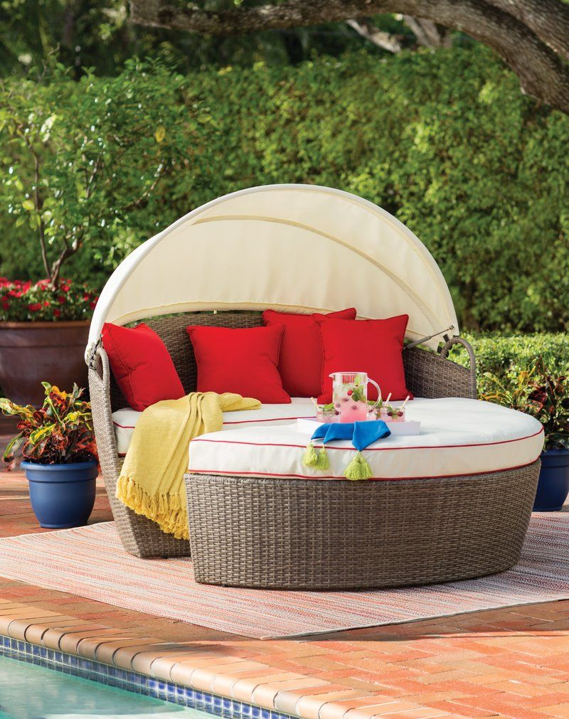 Fansler Patio Daybeds With Kuddar
