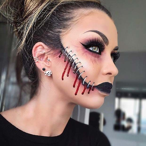 Holiday Party Make Up Idé Halloween