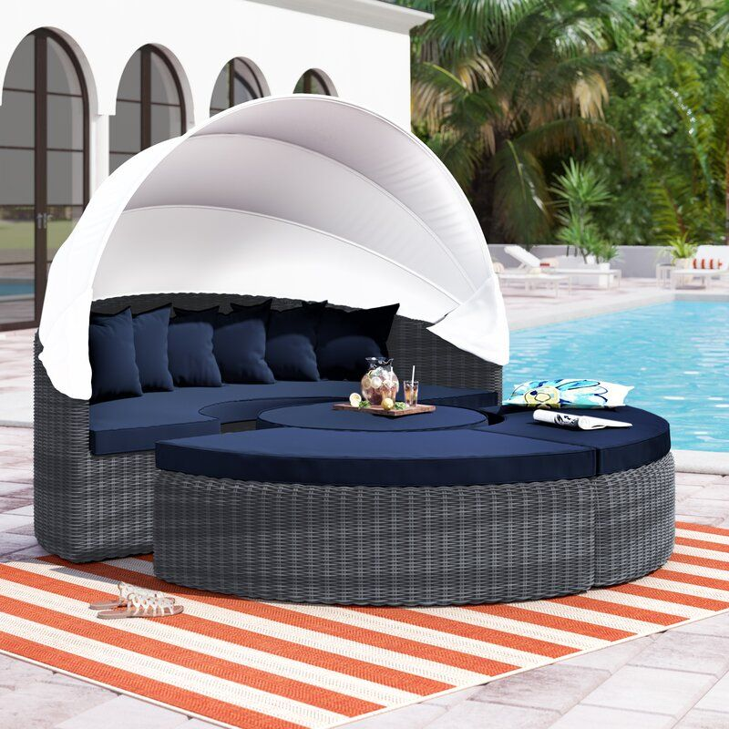 Keiran Patio Daybeds With Kuddar
