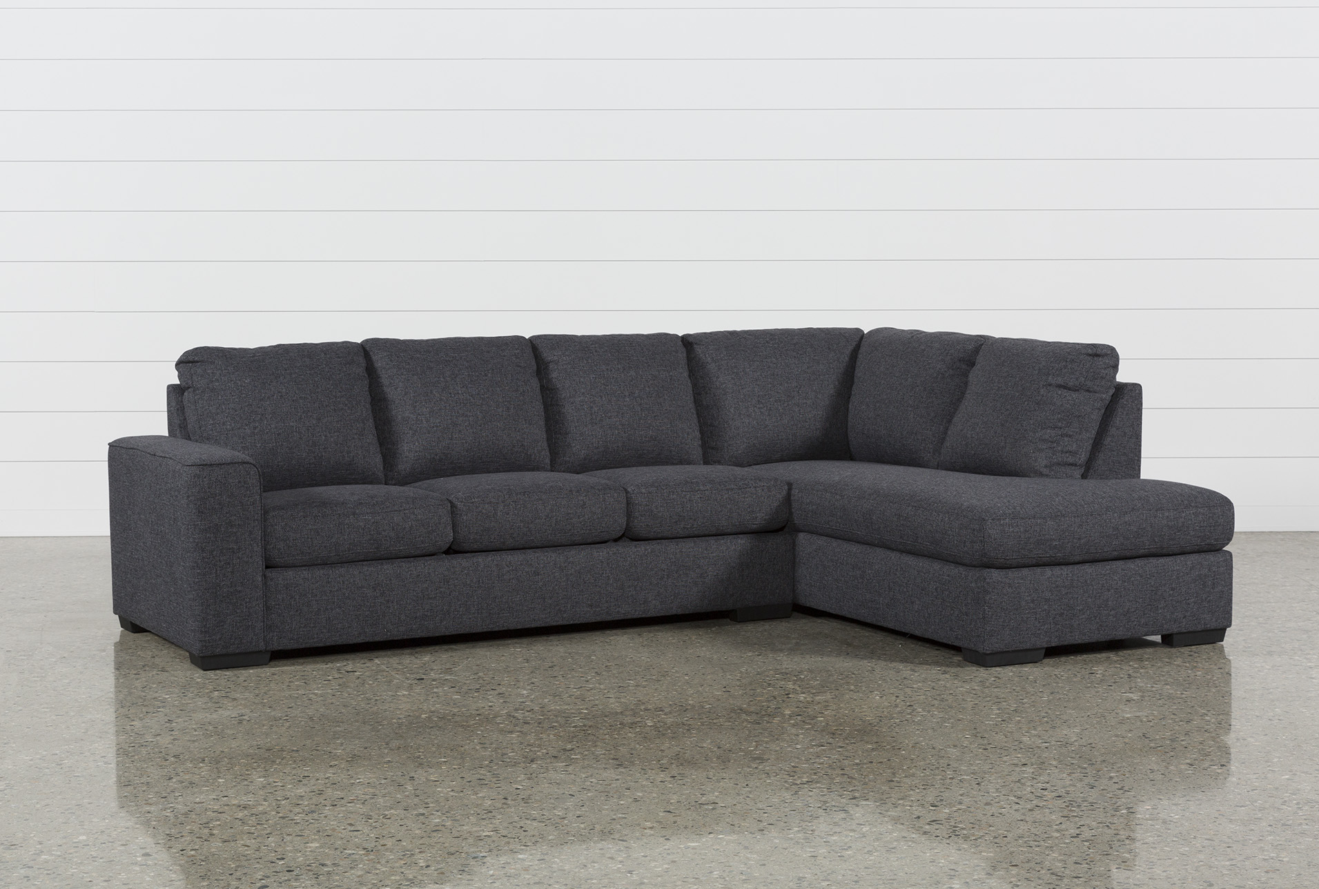 Lucy Dark Grey 2 Piece Sectionals With Laf Chaise