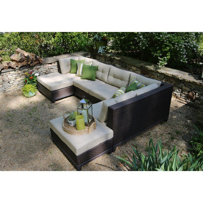Madison Avenue Patio Sectionals With Sunbrella Kuddar
