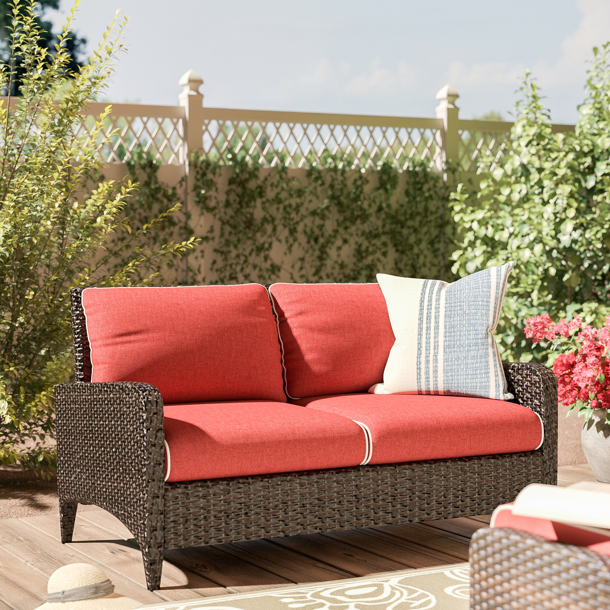 Mosca Patio Loveseats With Kuddar